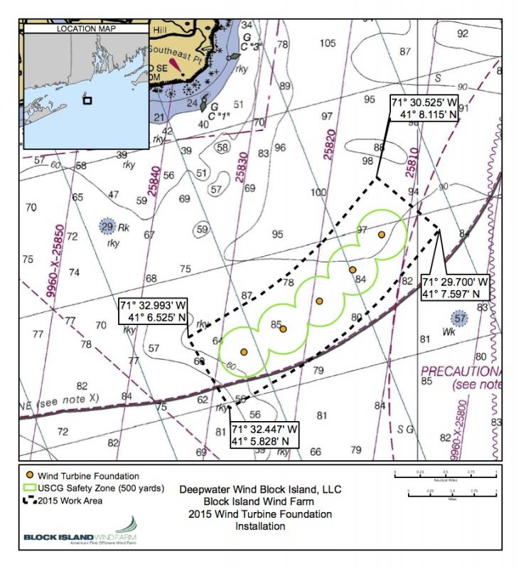 Wind Farm Issues Rules For Mariners Block Island Times - Map of wind farms in us