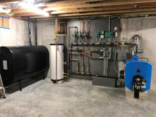 new furnace, water heater install